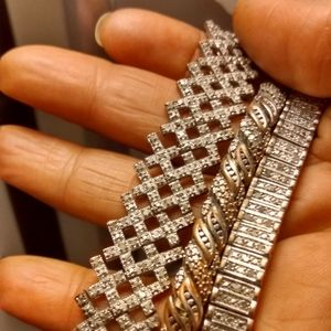 Three diamond bracelets